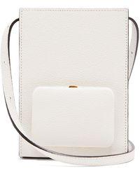 Lutz Morris Parker Grained-leather Cross-body Bag - White