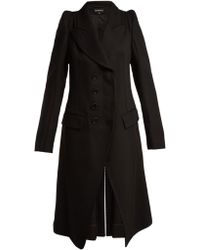 Ann Demeulemeester - Priestley Exaggerated Shoulder Wool Coat - Lyst