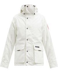 Canada Goose ロックポート フーデッドジャケット - ホワイト