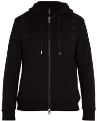 Neil Barrett - Military Star Hooded Cotton Sweatshirt - Lyst