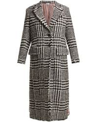 Thom Browne - Single-breasted Houndstooth-check Tweed Coat - Lyst