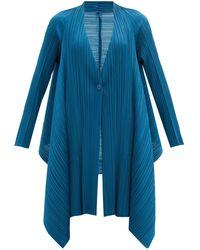 Pleats Please Issey Miyake テクニカルプリーツ シングルジャケット - ブルー