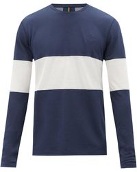Iffley Road Hove Striped Technical-jersey Long-sleeve T-shirt - Blue