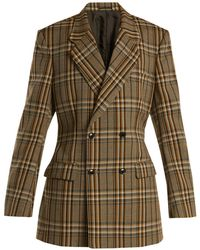 Toga - Double-breasted Checked Jacket - Lyst