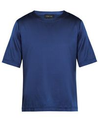 Meng - Crew-neck Silk-satin Pyjama Top - Lyst