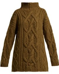 CONNOLLY - Cable Knit Wool And Cashmere Blend Jumper - Lyst