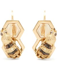 Delfina Delettrez - Diamond, Sapphire & Yellow Gold Earrings - Lyst