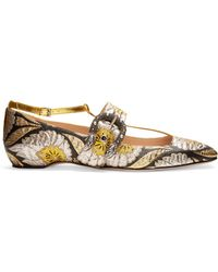 Gucci - Dionysus Jacquard Ballet Flats - Lyst