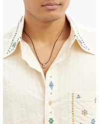 Fernando Jorge Cushion Diamond & 18kt Beige-gold Pendant - Natural