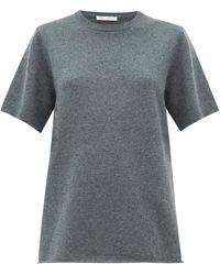 Extreme Cashmere No.64 Wave カシミアブレンド Tシャツ - グレー