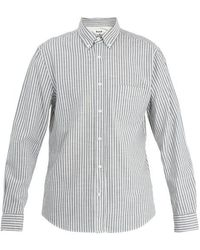 Acne Studios - Isherwood Point-collar Striped Cotton Shirt - Lyst