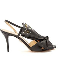 Charlotte Olympia - Georgina Bow-embellishment Leather Sandals - Lyst