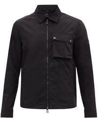 Belstaff Wayfare Patch-pocket Shell Overshirt - Black