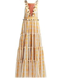 Dodo Bar Or Alicia Embroidered Cotton Maxi Dress - Yellow