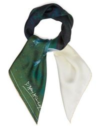Mary McCartney - - Into The View Print Silk Scarf - Womens - White - Lyst