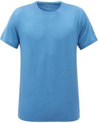 Derek Rose バーゼル マイクロモダール Tシャツ - ブルー