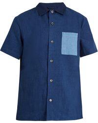 A.P.C. | Short-sleeved Cotton-blend Shirt | Lyst