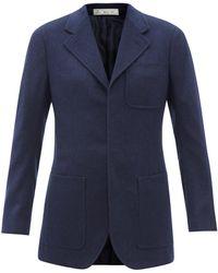 Umit Benan B+ Single-breasted Cashmere Jacket - Blue