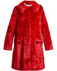 Shrimps Kassidy Faux Fur Coat - Red