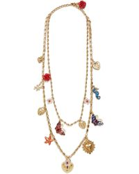 Dolce & Gabbana | Charm-embellished Double-chain Necklace | Lyst