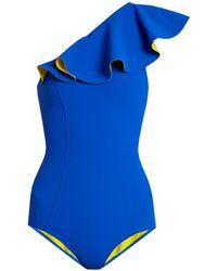 Lisa Marie Fernandez - Arden Flounce Bonded Swimsuit - Lyst