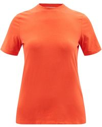 PROENZA SCHOULER WHITE LABEL カットアウト コットンtシャツ - オレンジ