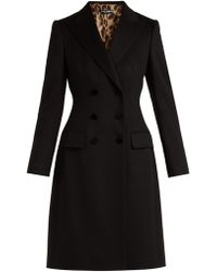 Dolce & Gabbana - Double Breasted Wool And Cashmere Blend Coat - Lyst