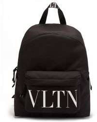 Valentino Garavani キャンバスバックパック - ブラック