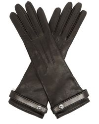 Burberry Leather Gloves - Black