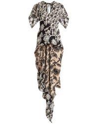 Roland Mouret - Deane Mexican-rose Print Dress - Lyst