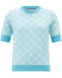Gucci - Pull en laine mélangée à jacquard GG - Lyst
