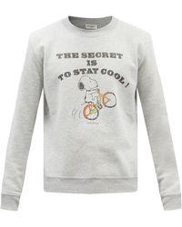 Saint Laurent X Snoopy コットンブレンドスウェットシャツ - グレー