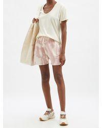 Les Tien スクープネック コットンtシャツ - ホワイト
