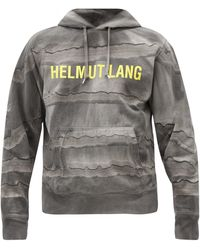 Helmut Lang - メガ マーブルダイ コットンスウェットパーカー - Lyst