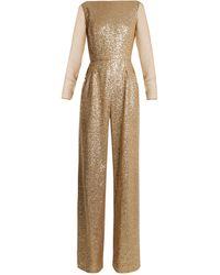 Azzaro Anja Sequin-embellished Jumpsuit - Metallic