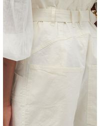 Isabel Marant エフィ リネンブレンド オーバーオールショートパンツ - ホワイト