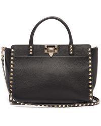 Valentino Garavani - Rockstud Grained-leather Cross-body Bag - Lyst