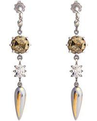 Bottega Veneta | Stellular Chalcopyrite-drop Earrings | Lyst