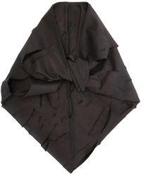 ART SCHOOL ダメージコットン ヘッドスカーフ - ブラック