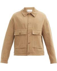 Raey Patch-pocket Cotton-blend Twill Jacket - Natural