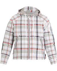 Moncler Gamme Bleu Checked Hooded Cotton-blend Jacket - Multicolour