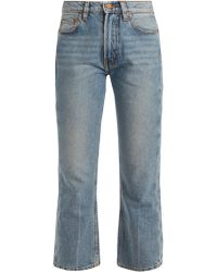 Bliss and Mischief - Cowboy Fit Bootcut Cropped Jeans - Lyst