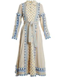 Dodo Bar Or - Azzez Polka-dot And Striped Cotton Dress - Lyst