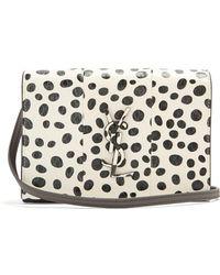 Saint Laurent - Kate Polka-dot Small Snakeskin Cross-body Bag - Lyst