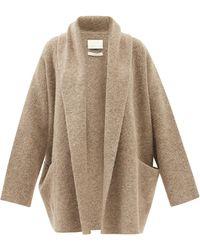 Lauren Manoogian Shawl-lapel Brushed-knit Cardigan - Gray