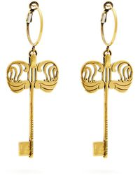 Alexander McQueen - Key Drop Earrings - Lyst