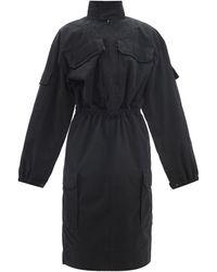 Balenciaga カーゴ リップストップ シャツドレス - ブラック