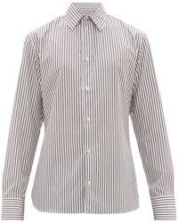 The Row Jasper ストライプコットンシャツ - マルチカラー