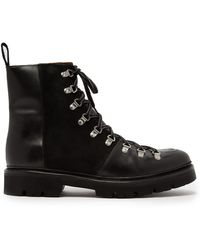 Grenson Brady Leather And Suede Boots - Black
