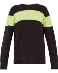 The Elder Statesman - Racing Intarsia Stripe Cashmere Jumper - Lyst